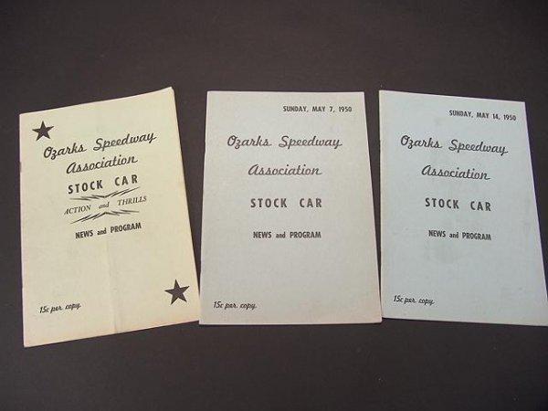 1334: 1950'S STOCK CAR RACING NEWS & PROGRAM