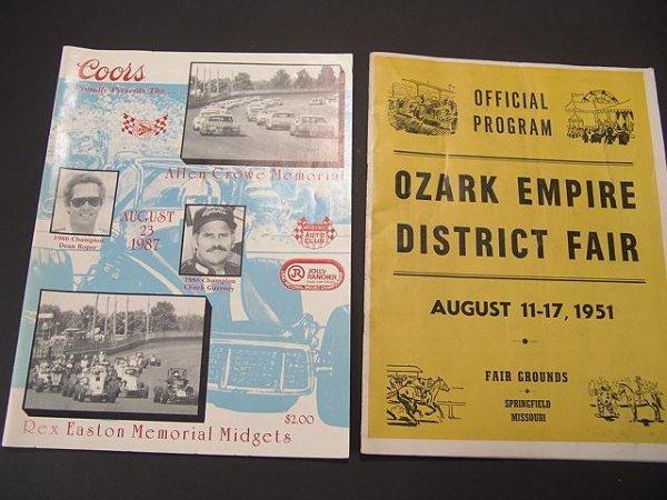 1335: 1951 OZARK MO DISTRICT FAIR GUIDE PLUS RACING GUI