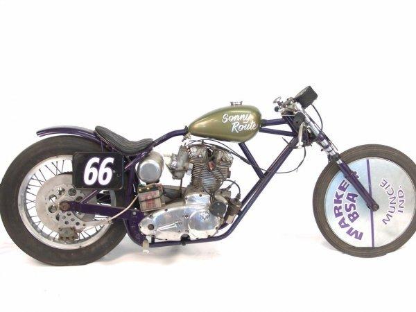 1335A: VINTAGE 3 CYLINDER DRAG BIKE MOTORCYCLE 'SONNY R