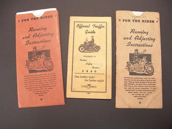 1338: 1940'S MOTORCYCLE TRAFFIC GUIDE & MOTORCYCLE INST