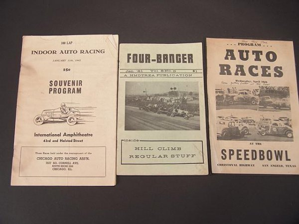 1340: 1940'S AUTO RACING PROGRAMS & FOUR-BANGER MAGAZIN