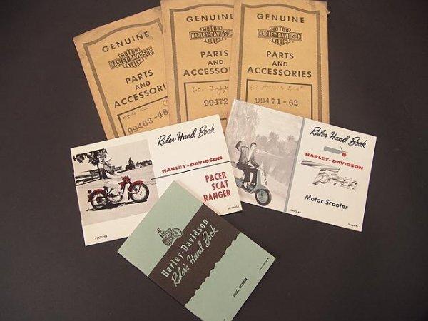 1341: .HARLEY-DAVISON HAND BOOKS  W/ ORIGINAL COVERS
