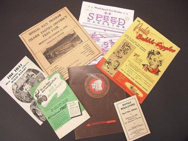 1343: VINTAGE LOT AUTO RACING PROGRAM & BUBBLE GOGGLES