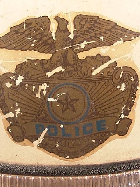 1442: TWO VINTAGE POLICE MOTORCYCLE HELMETS - 2