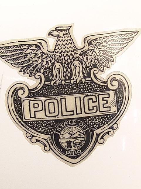 1442: TWO VINTAGE POLICE MOTORCYCLE HELMETS - 3