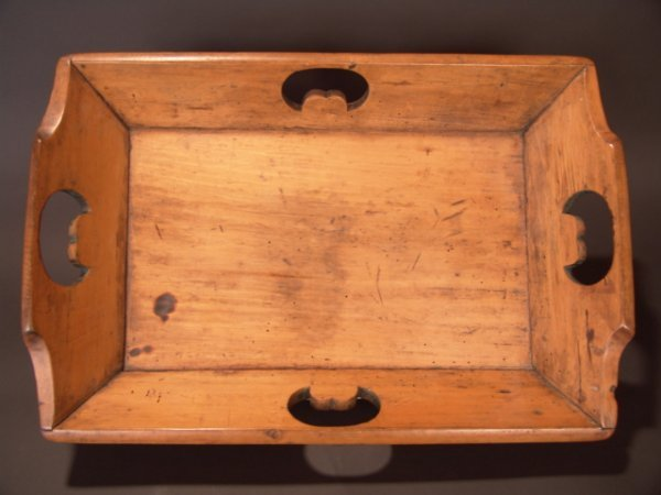 2001: 19TH CENT.  HAND CARVED ENGLISH PINE TRAY
