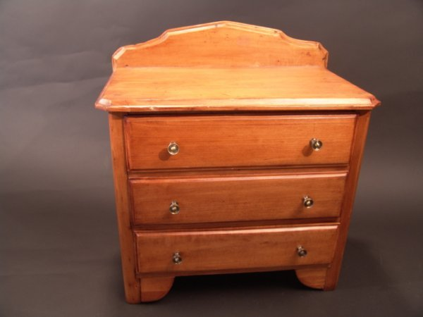 2003: 19TH CENTURY MINIATURE CHEST OF DRAWERS