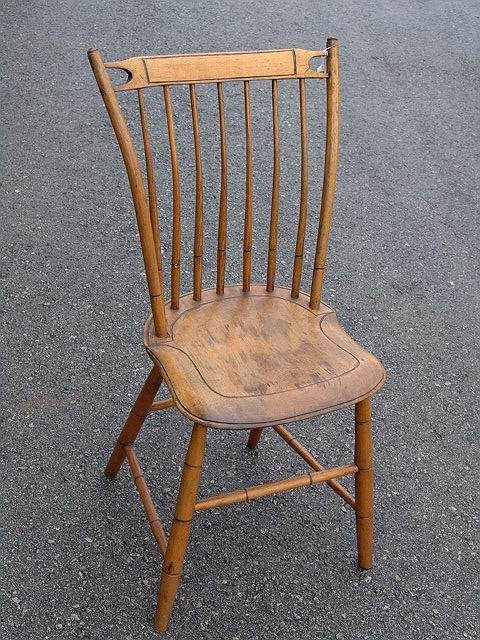 2020: 19TH C WINDSOR FAN BACK CHAIR now pictured
