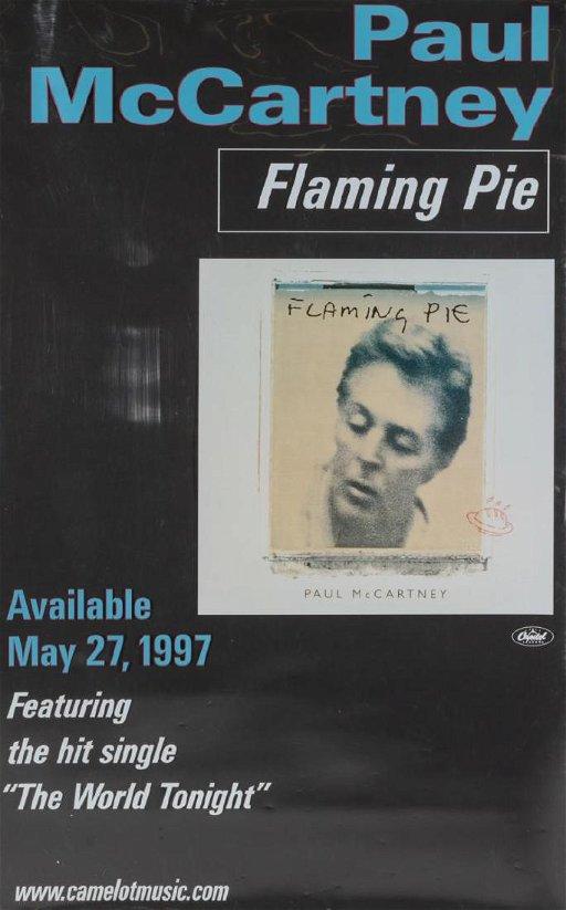 RARE WINDOW BANNER, PAUL McCARTNEY ALBUM RELEASE - Aug 08