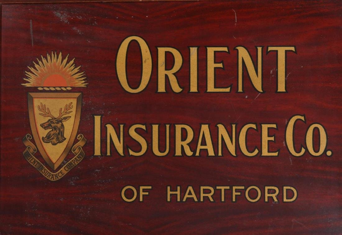 ORIENT INSURANCE CO. TIN ADVERTISING SIGN