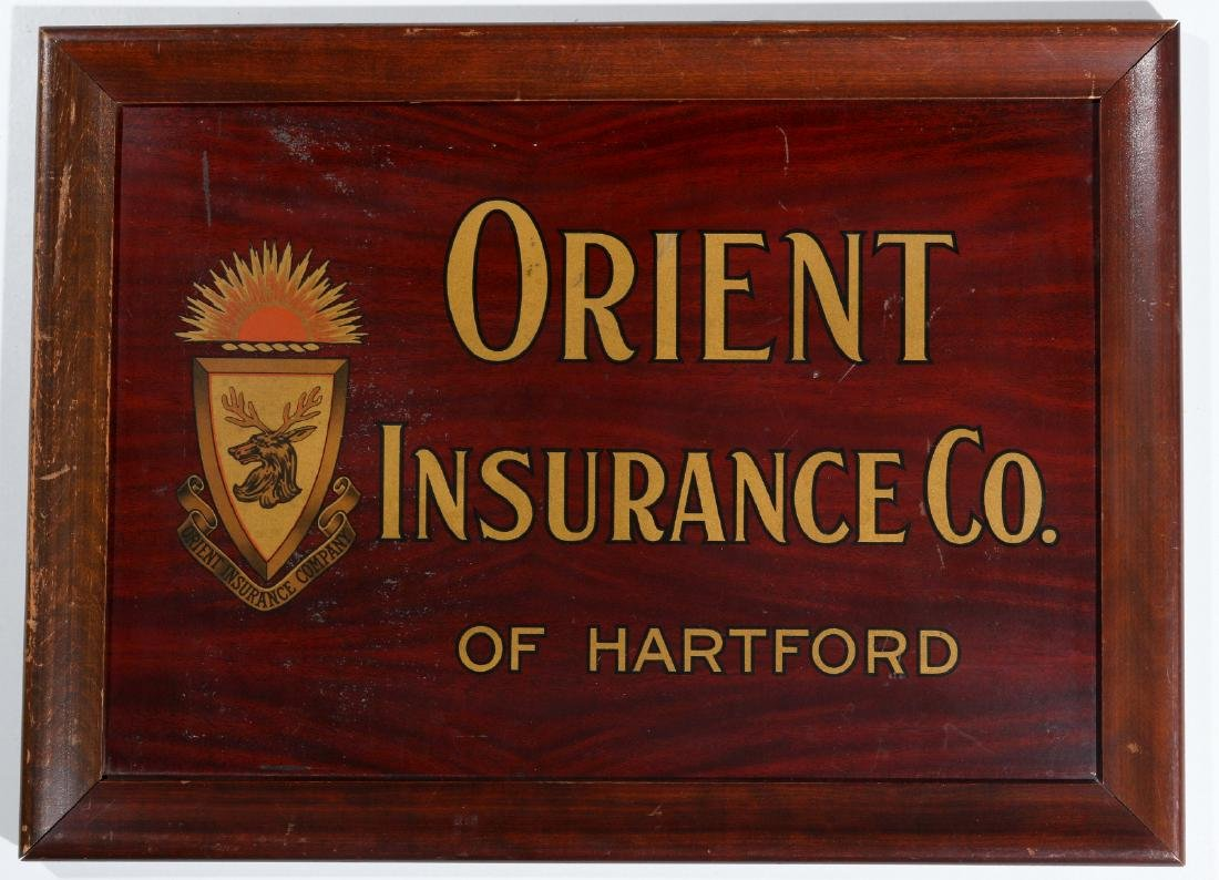 ORIENT INSURANCE CO. TIN ADVERTISING SIGN - 2