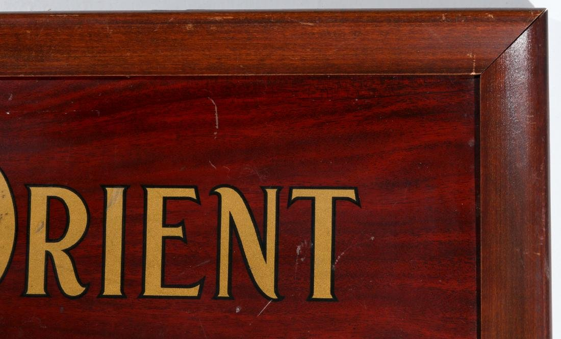 ORIENT INSURANCE CO. TIN ADVERTISING SIGN - 4