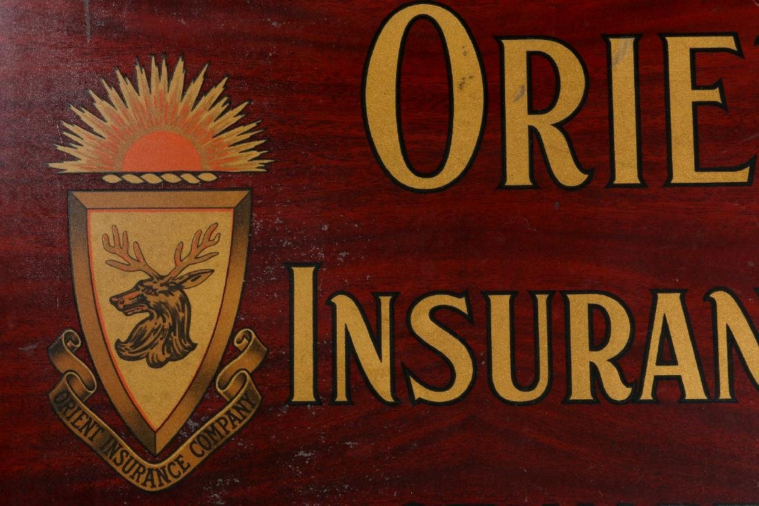 ORIENT INSURANCE CO. TIN ADVERTISING SIGN - 8