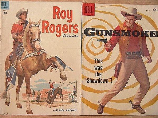 4: 3 comics-Gunsmoke(TV) #7-Very Good+, Roy Rogers #76-