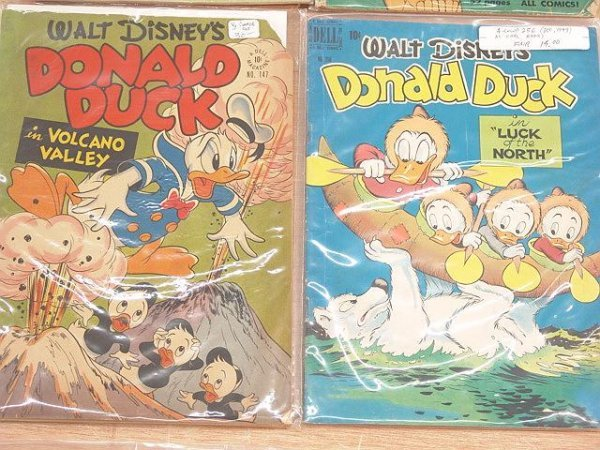 5: 4 comics-Disney Four Colors #147-poor, #238-Good-, #