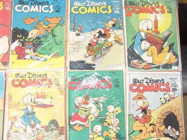 13: Eight older WDC&S comics #53-Good-, #59-Good, #63-G