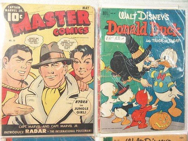16: 4 comic books-Master #50-Good, Donald Duck #26-#1Fa