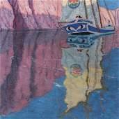 C. BERTRAM HARTMAN (1882-1960) OIL ON CANVAS