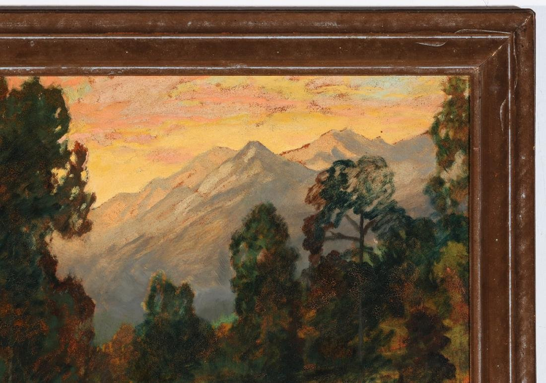 DAVID STIRLING (1887-1971) OIL ON ARTIST'S BOARD - 4