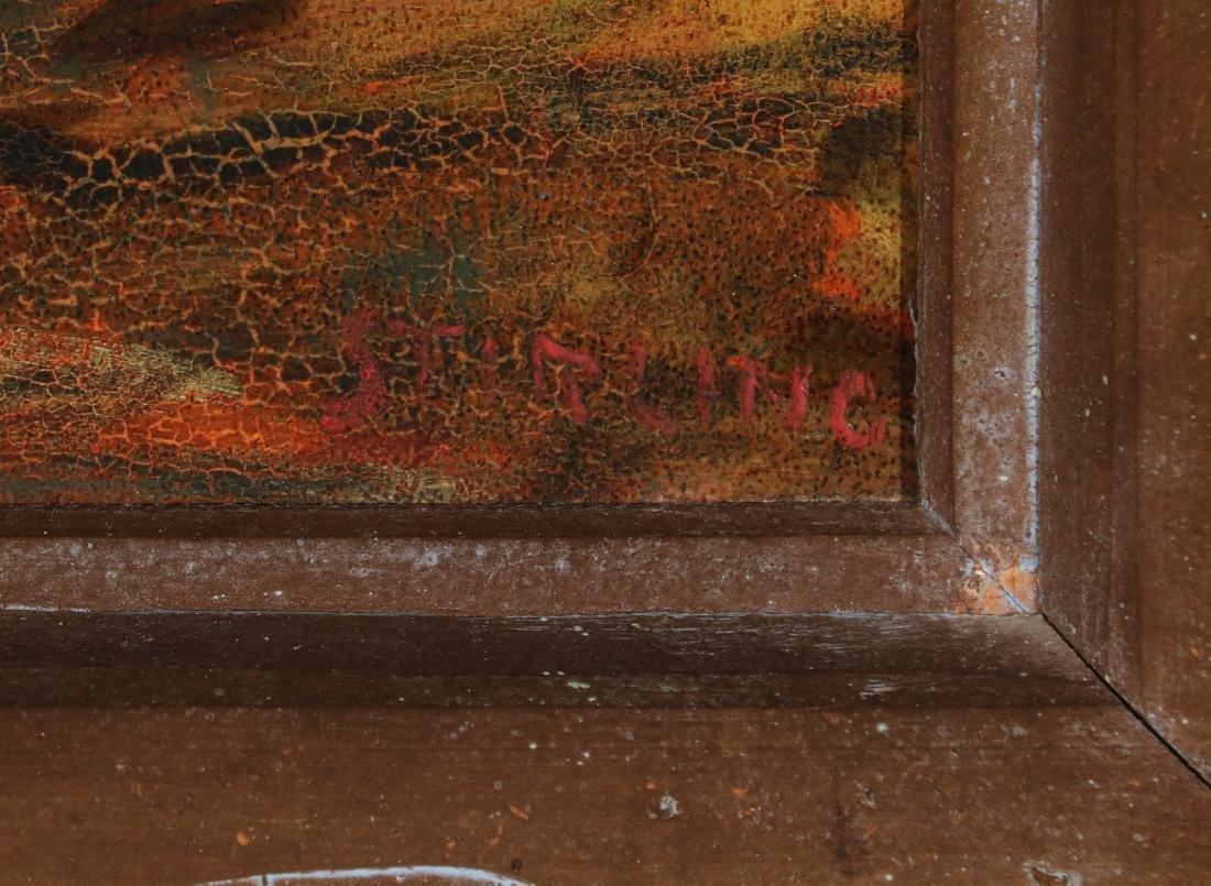 DAVID STIRLING (1887-1971) OIL ON ARTIST'S BOARD - 8