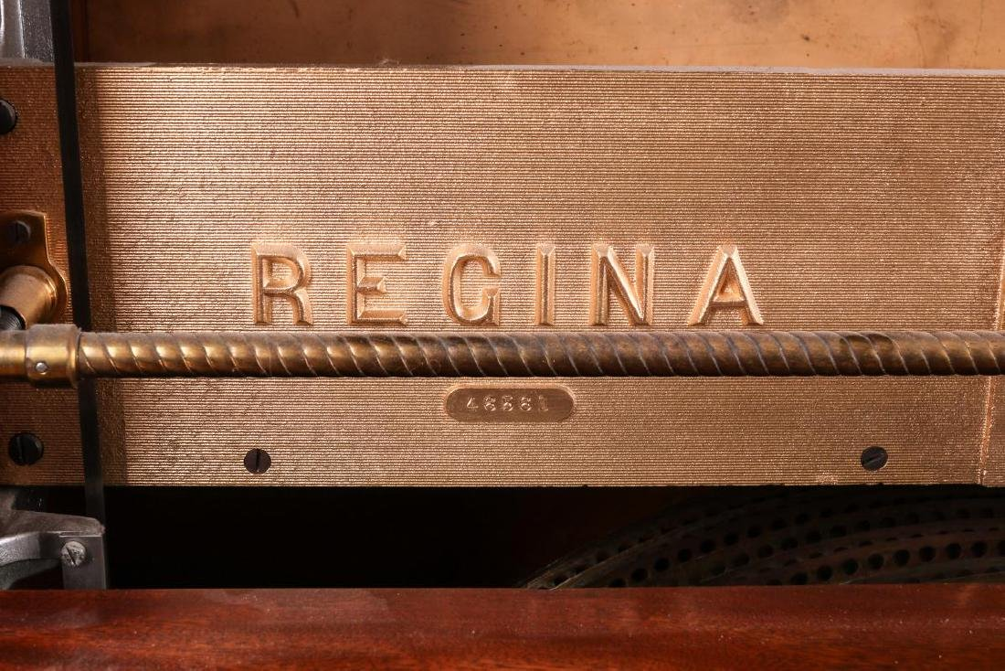 A REGINA COIN OPERATED 27-INCH DISC MUSIC BOX - 8