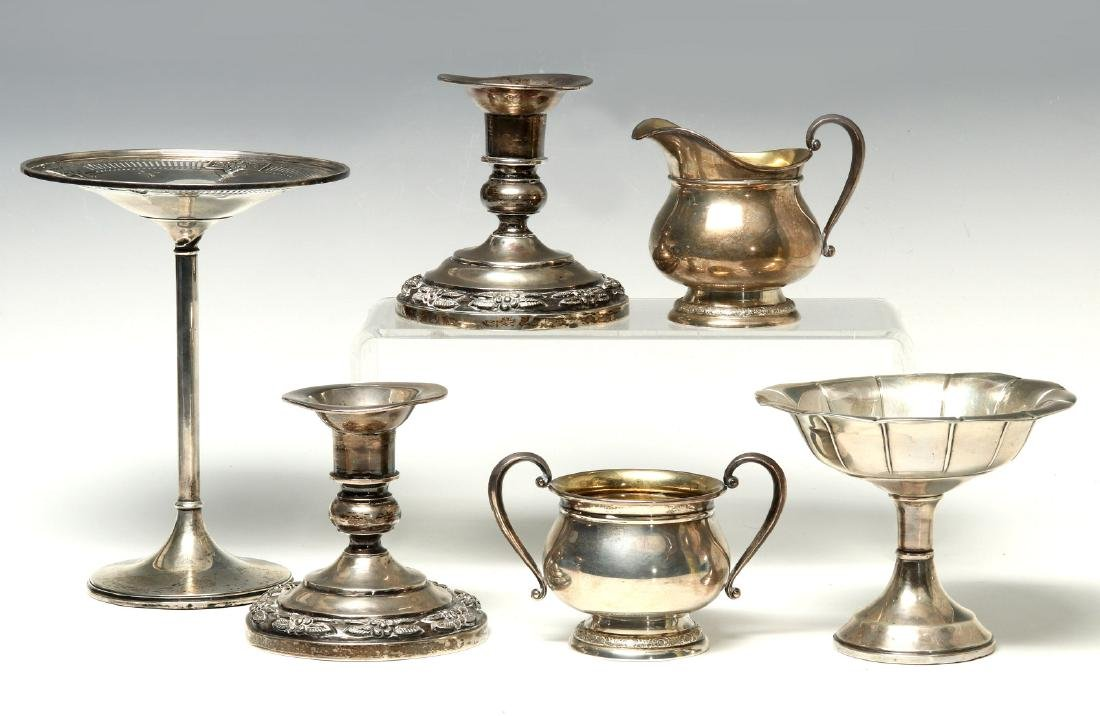 AN ESTATE COLLECTION OF STERLING SILVER