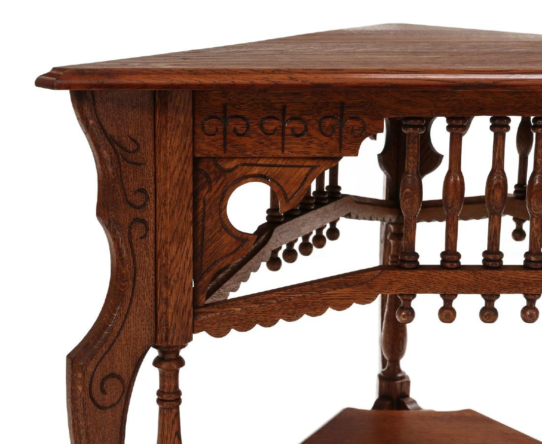 AMERICAN OAK STICK & BALL TRIPARTITE STAND C. 1890 - 2
