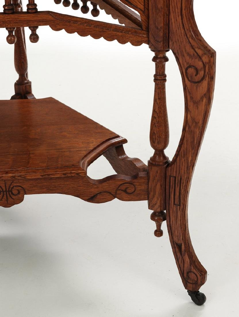 AMERICAN OAK STICK & BALL TRIPARTITE STAND C. 1890 - 4