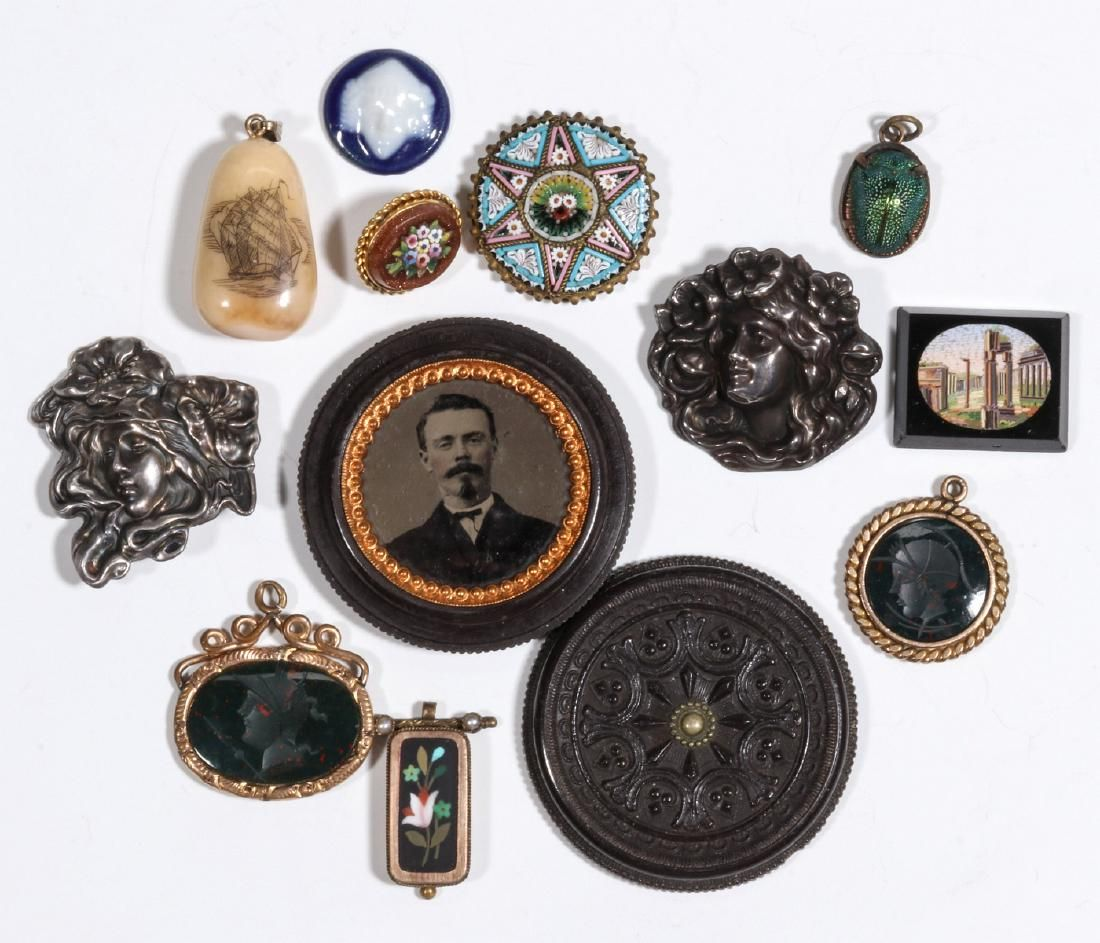 ESTATE JEWELRY AND MINIATURES: MICROMOSAIC, UNGER