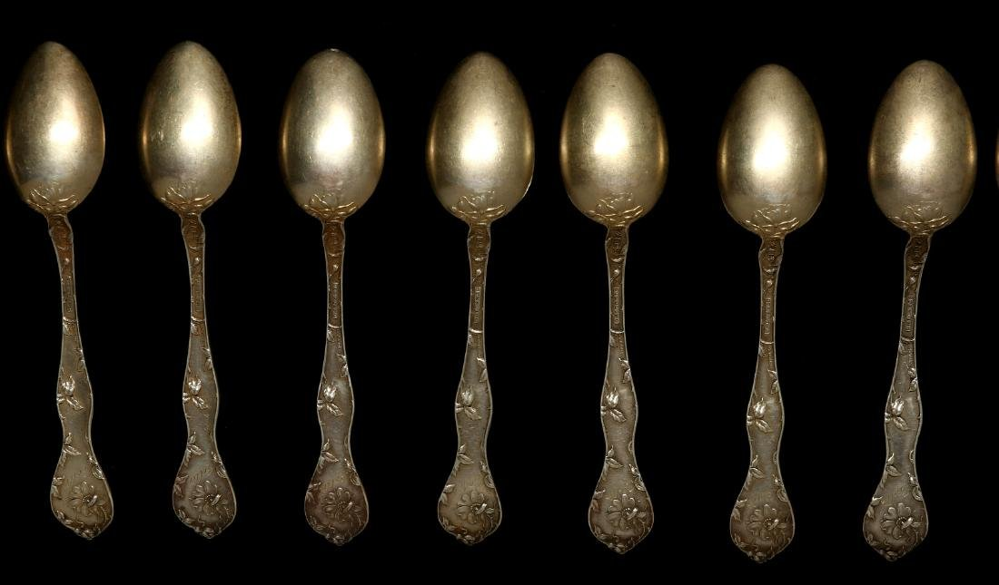 A COLLECTION OF STERLING SILVER FLATWARE - 10