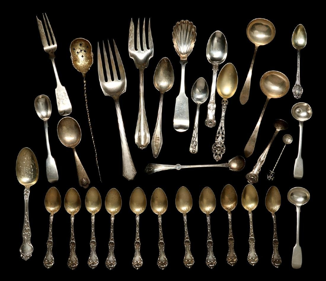 A COLLECTION OF STERLING SILVER FLATWARE