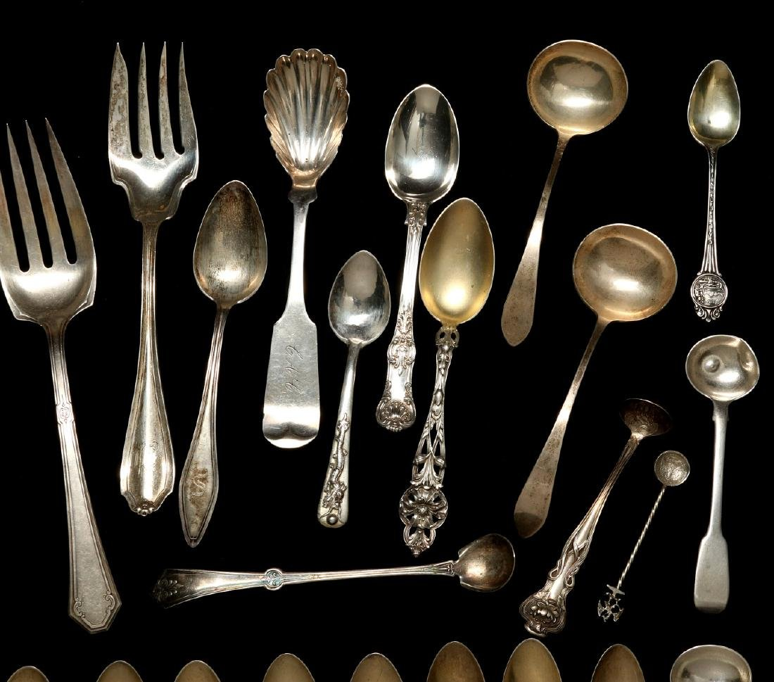 A COLLECTION OF STERLING SILVER FLATWARE - 3