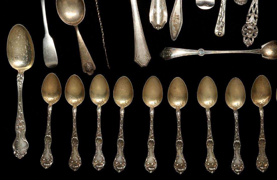 A COLLECTION OF STERLING SILVER FLATWARE - 5