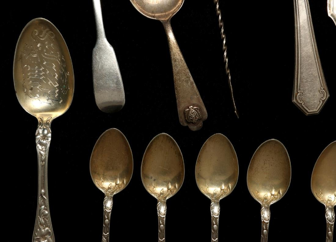 A COLLECTION OF STERLING SILVER FLATWARE - 6
