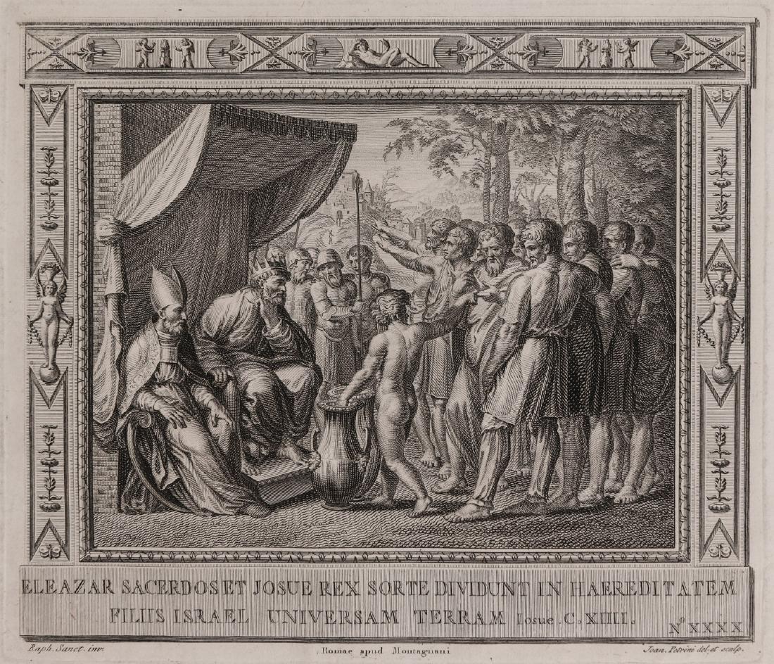 PAIR OF 17TH C. ENGRAVINGS AFTER RAPHAEL (1483-1520) - 2