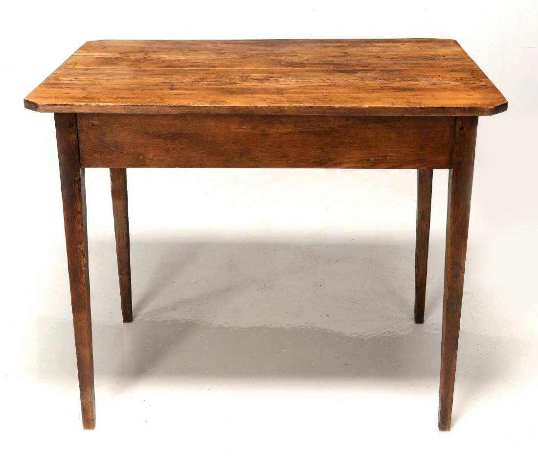 A 19TH CENTURY AMERICAN COUNTRY PINE STAND TABLE - 7