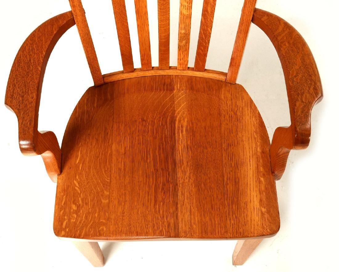 TWO CIRCA 1900 AMERICAN OAK ARM CHAIRS - 4