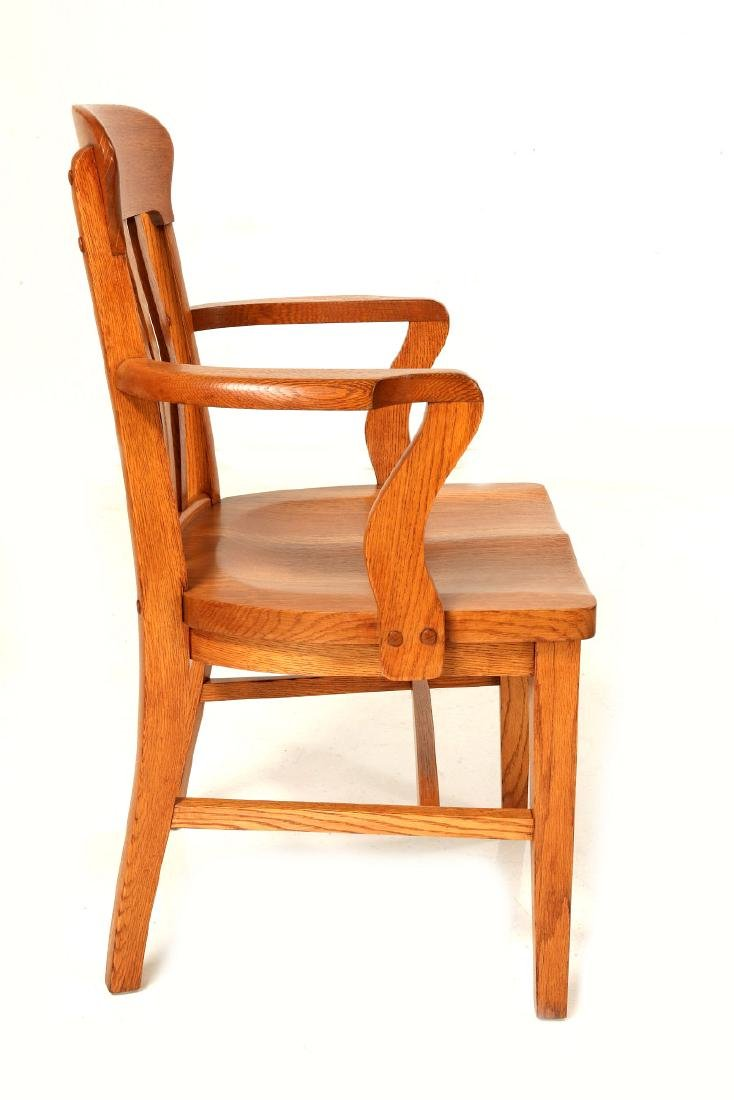 TWO CIRCA 1900 AMERICAN OAK ARM CHAIRS - 5