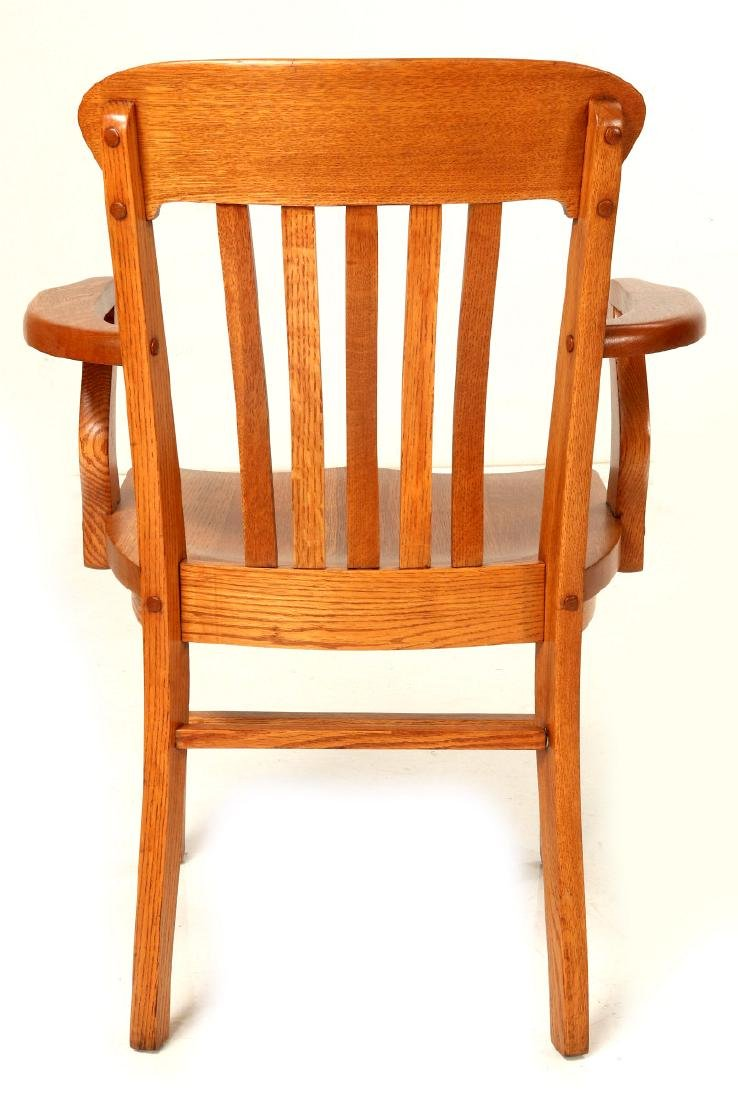 TWO CIRCA 1900 AMERICAN OAK ARM CHAIRS - 6