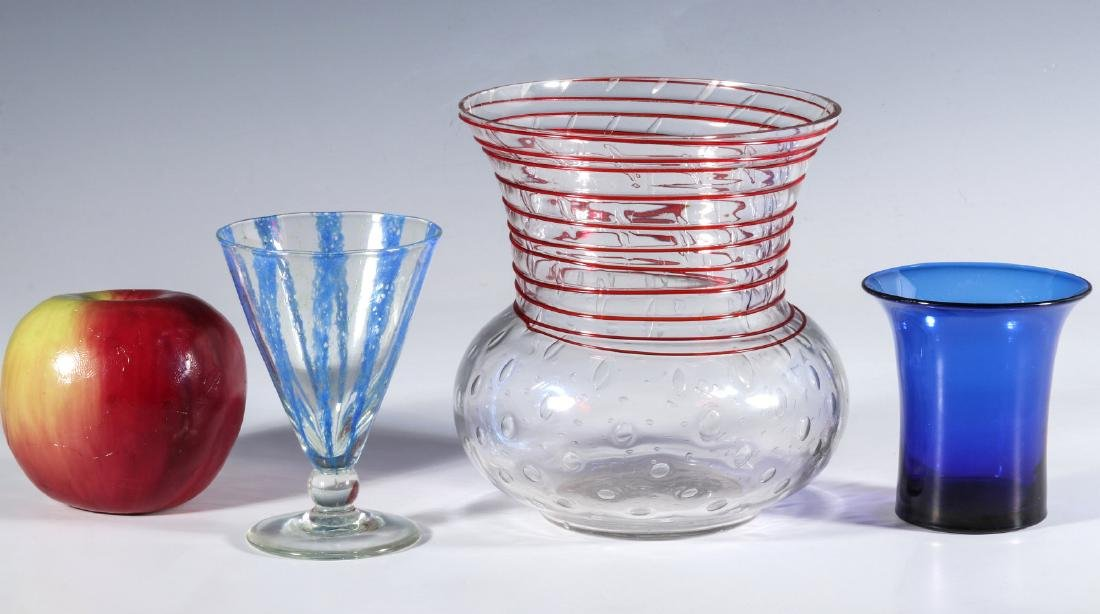 NASH CHINTZ AND THREADED STEUBEN ART GLASS - 6