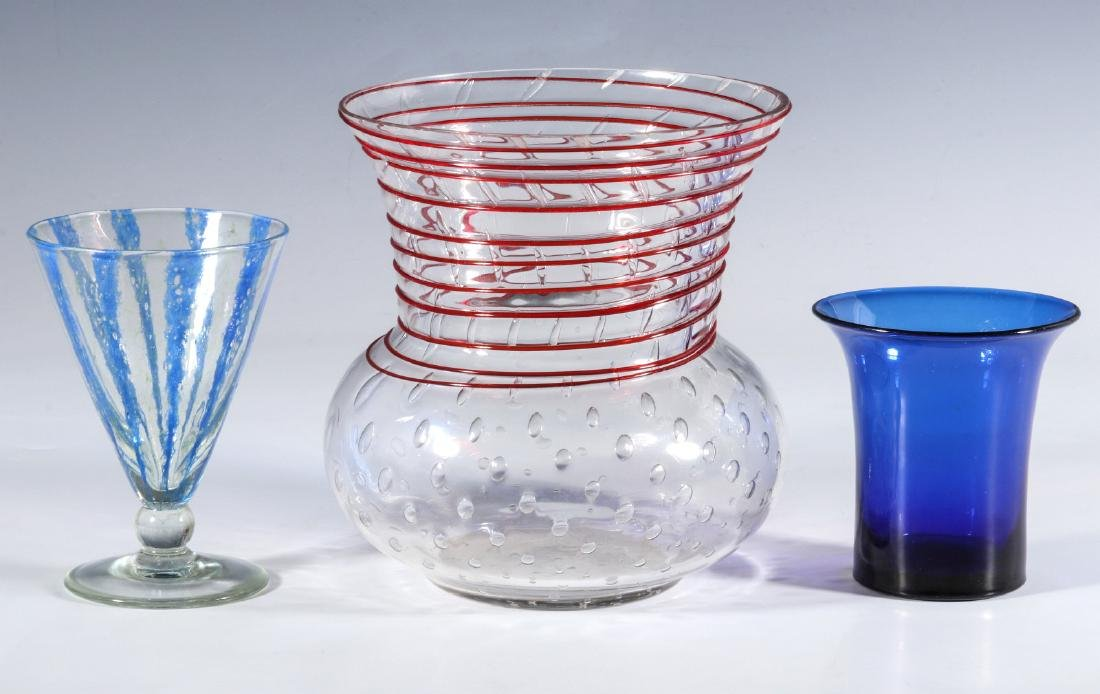 NASH CHINTZ AND THREADED STEUBEN ART GLASS - 7