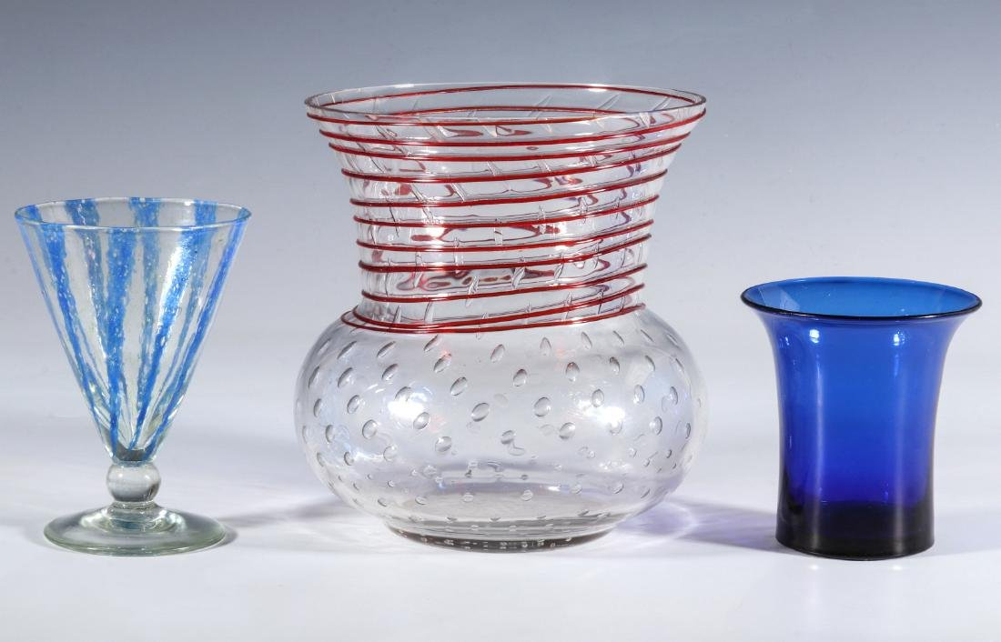 NASH CHINTZ AND THREADED STEUBEN ART GLASS - 8