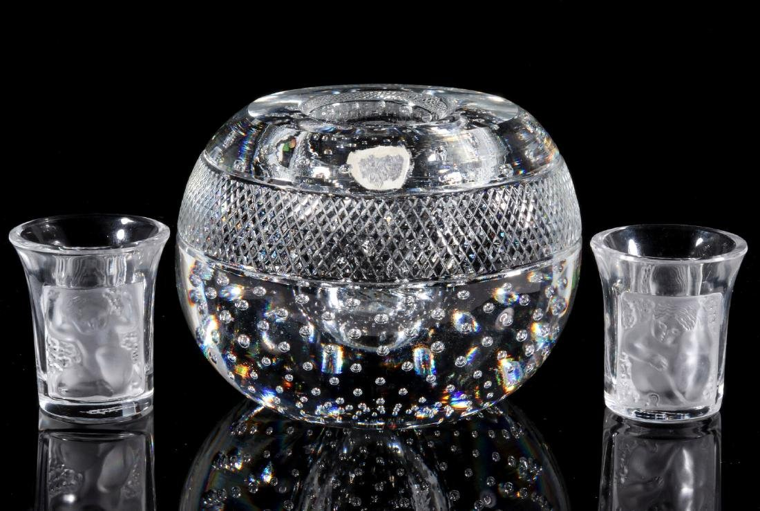 WEBB AND LALIQUE CRYSTAL OBJECTS - 6