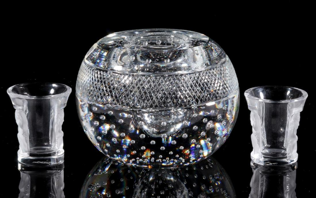 WEBB AND LALIQUE CRYSTAL OBJECTS - 8