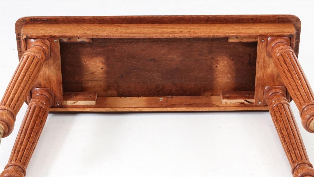 A NARROW OAK SOFA TABLE - 6