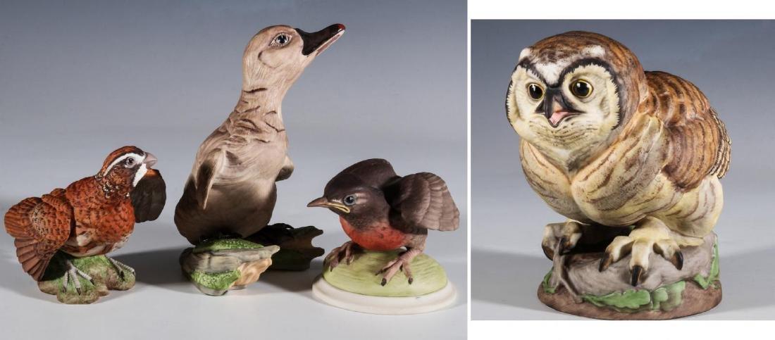 A COLLECTION OF BOEHM PORCELAIN BIRD FIGURES