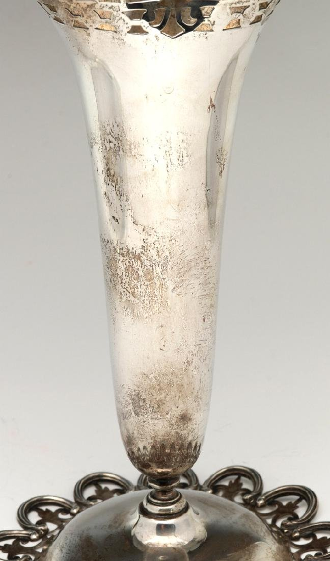 A MERMOD, JACCARD & KING STERLING SILVER VASE - 4