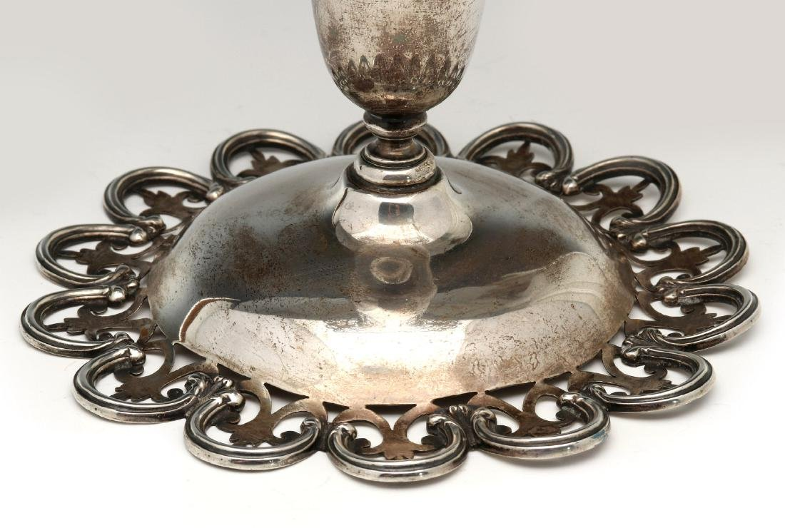 A MERMOD, JACCARD & KING STERLING SILVER VASE - 5