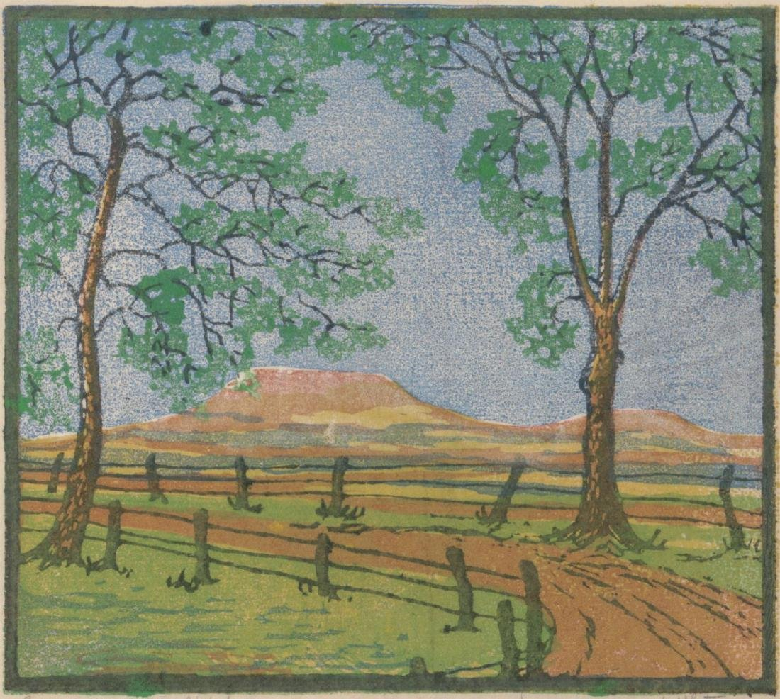MARGARET WHITTEMORE (1897-1983) SIGNED WOODBLOCK