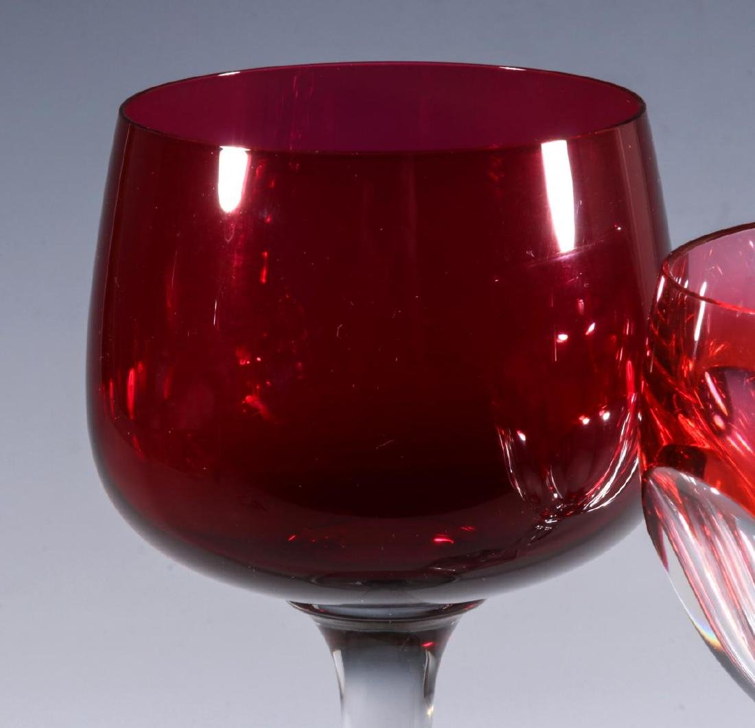 FOUR BACCARAT AND OTHER QUALITY CUT TO CLEAR WINE - 3